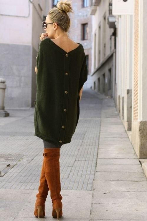 Чем одевать коричневые сапоги