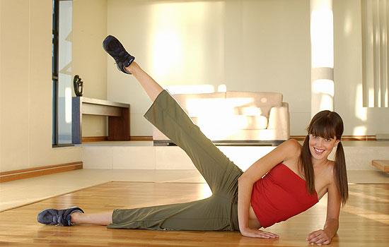 как убрать жир с коленей в домашних