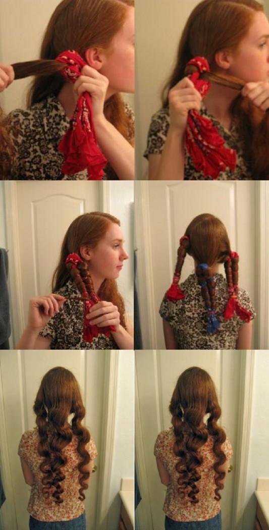 Как закрутить волосы без плойки и бигуди за 5 минут