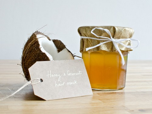 маска для волос мед и масло кокосовое