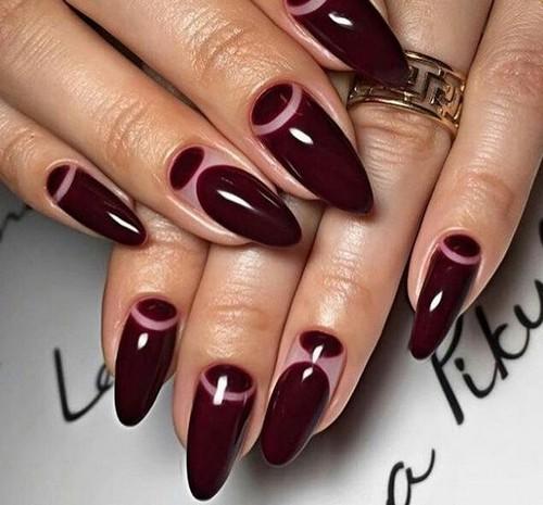 Цвет марсала ногти