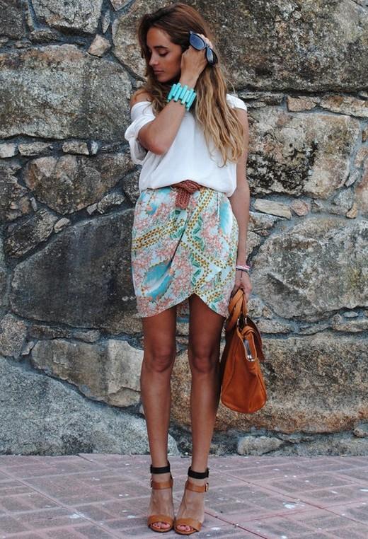 Юбка тюльпан и блузка