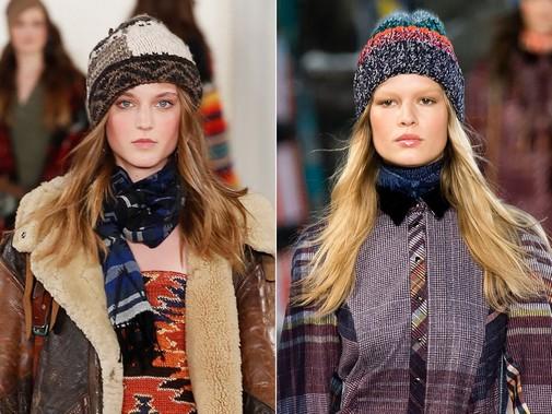 модные меховые вязаные шапки сезона осень зима 2014 2015 25 фото