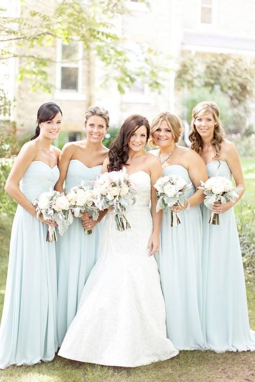 Платье невесты разных цветов