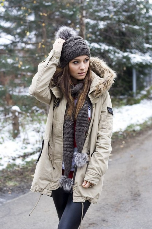 как подобрать шапку по форме лица женщине к пальто шубе или куртке