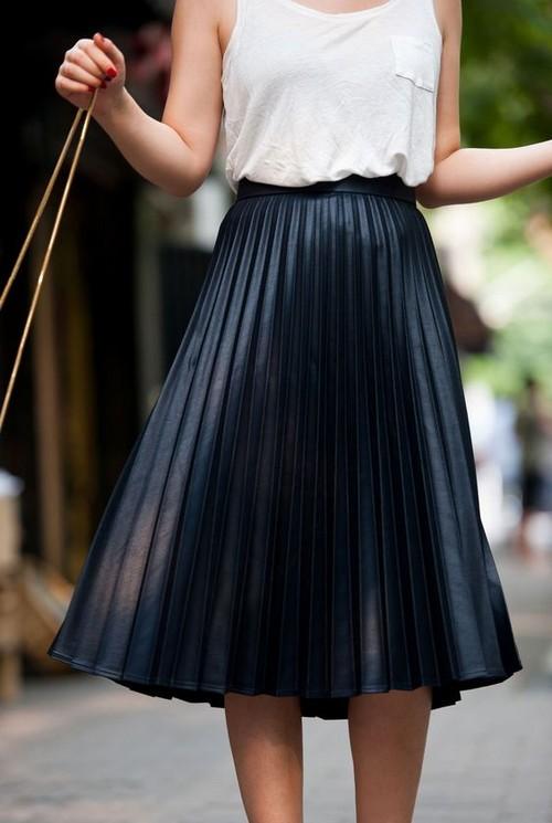 Купить чёрная плиссированная юбка