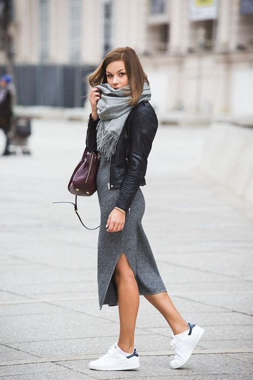с чем носить трикотажное или вязаное платье лапша 18 фото образов