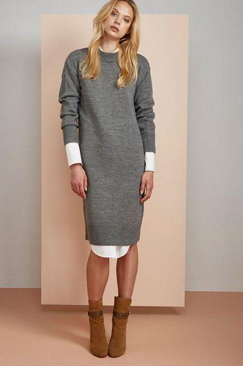 46a6bf6aeaf С чем носить трикотажное или вязаное платье лапша  18 фото образов