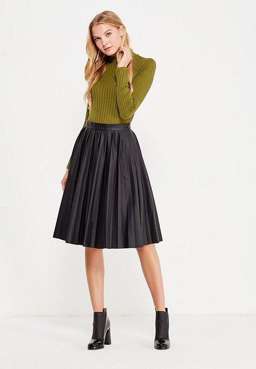 a818c167b61 Популярные цвета и фасоны юбок из кожи. С чем носить кожаную юбку ...