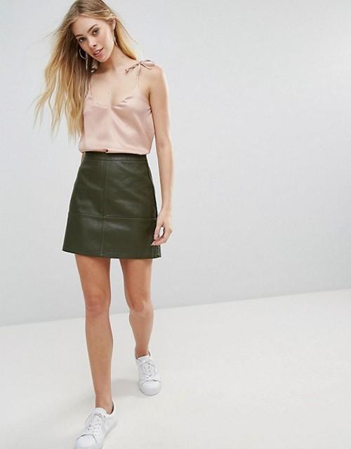 d831ea7723ee Популярные цвета и фасоны юбок из кожи. С чем носить кожаную юбку ...