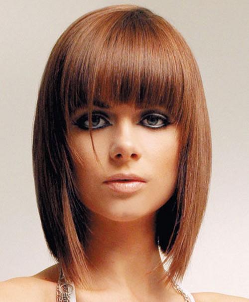Стрижки на средние волосы большой лоб
