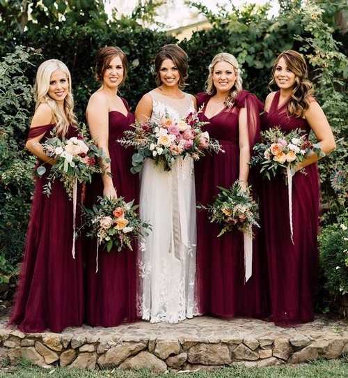 Величественная и роскошная свадьба в цвете Марсала